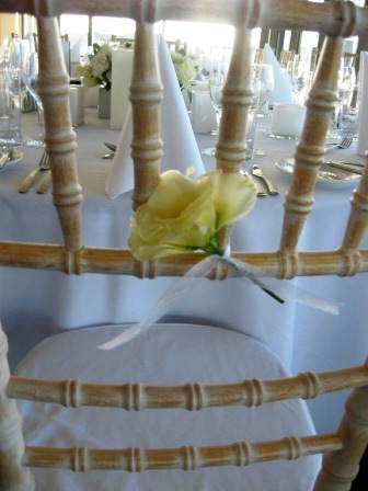 Floral Chair Decoration