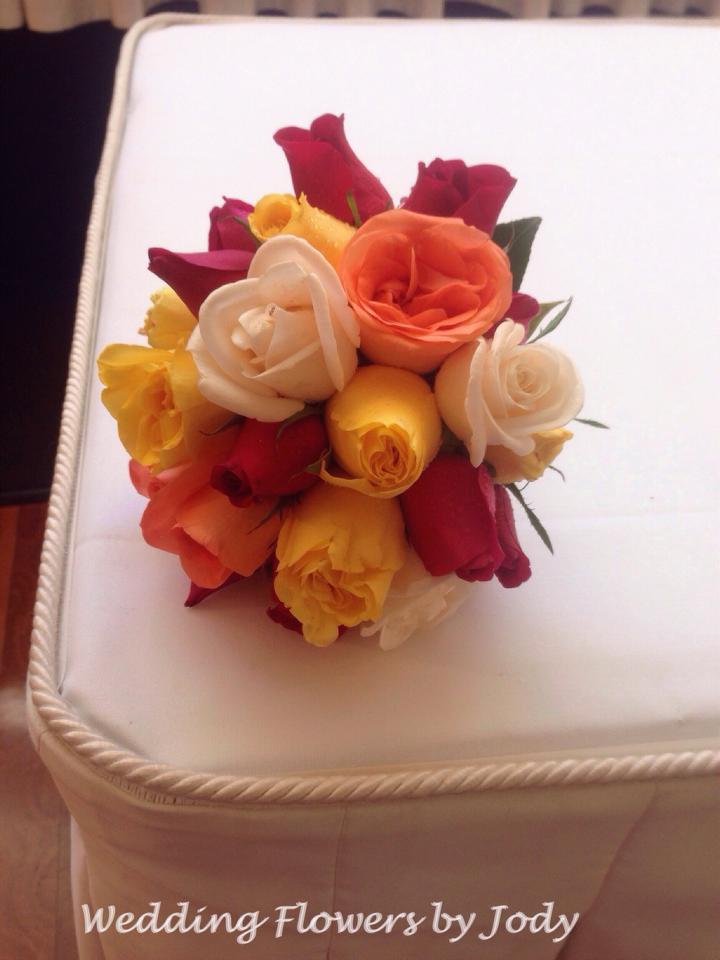 brightly coloured bouquet
