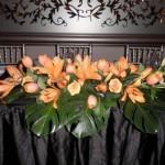 apricot floral arrangement