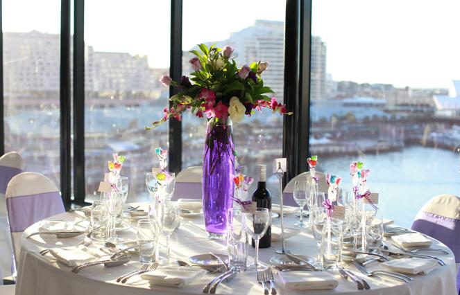 Gorgeous arrangement in purple vase